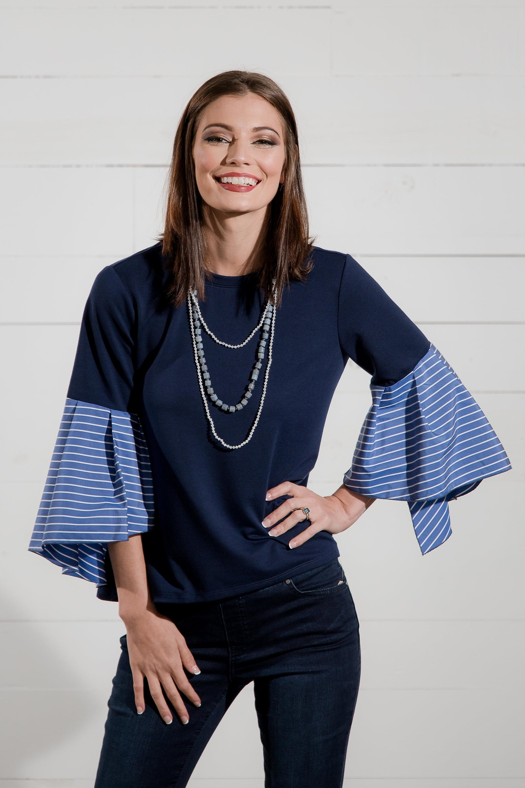 Go Fish Clothing Bell Sleeve Blouse - Front Full Image