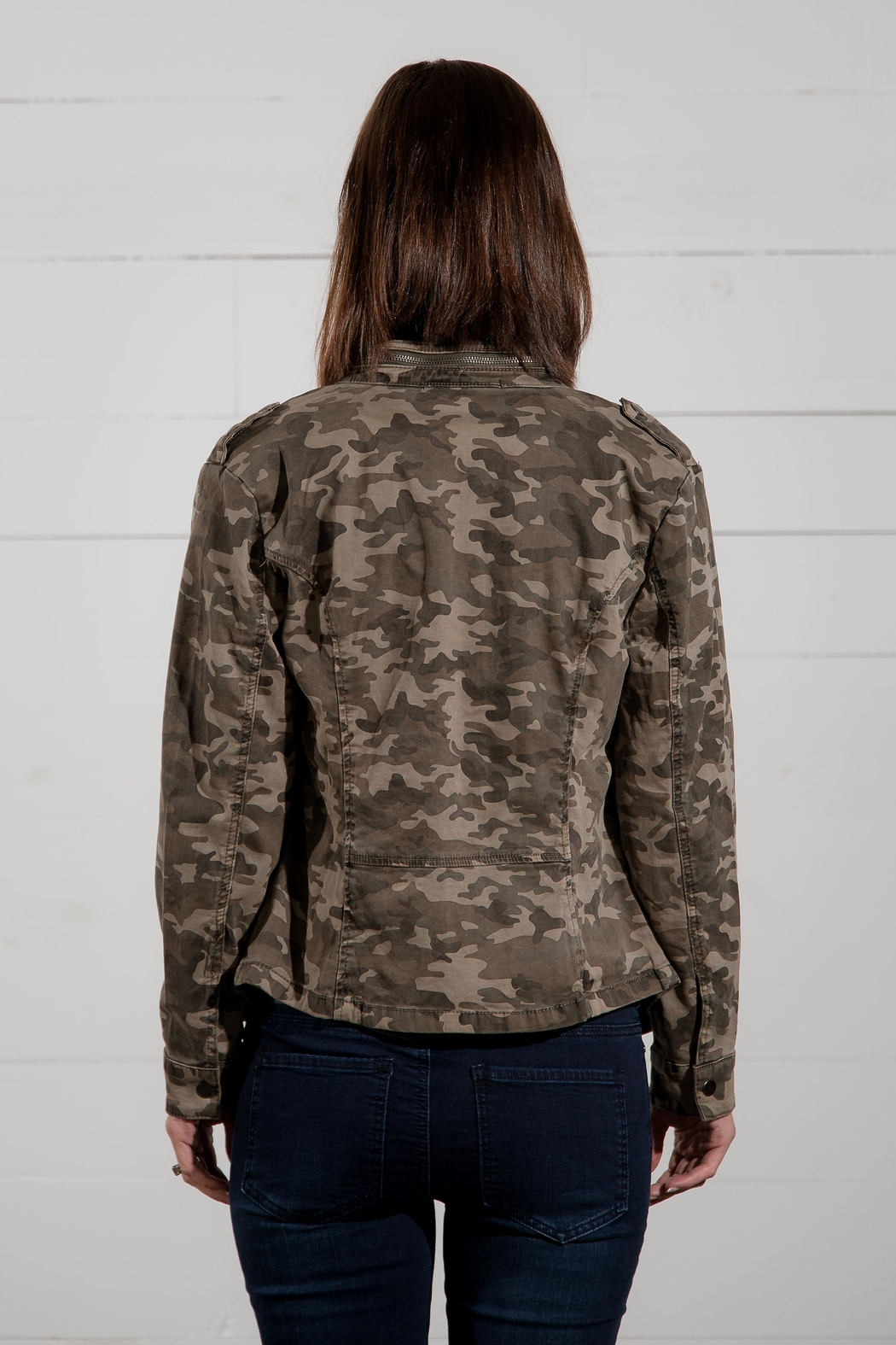 Go Fish Clothing Camo Zip Jacket - Front Full Image