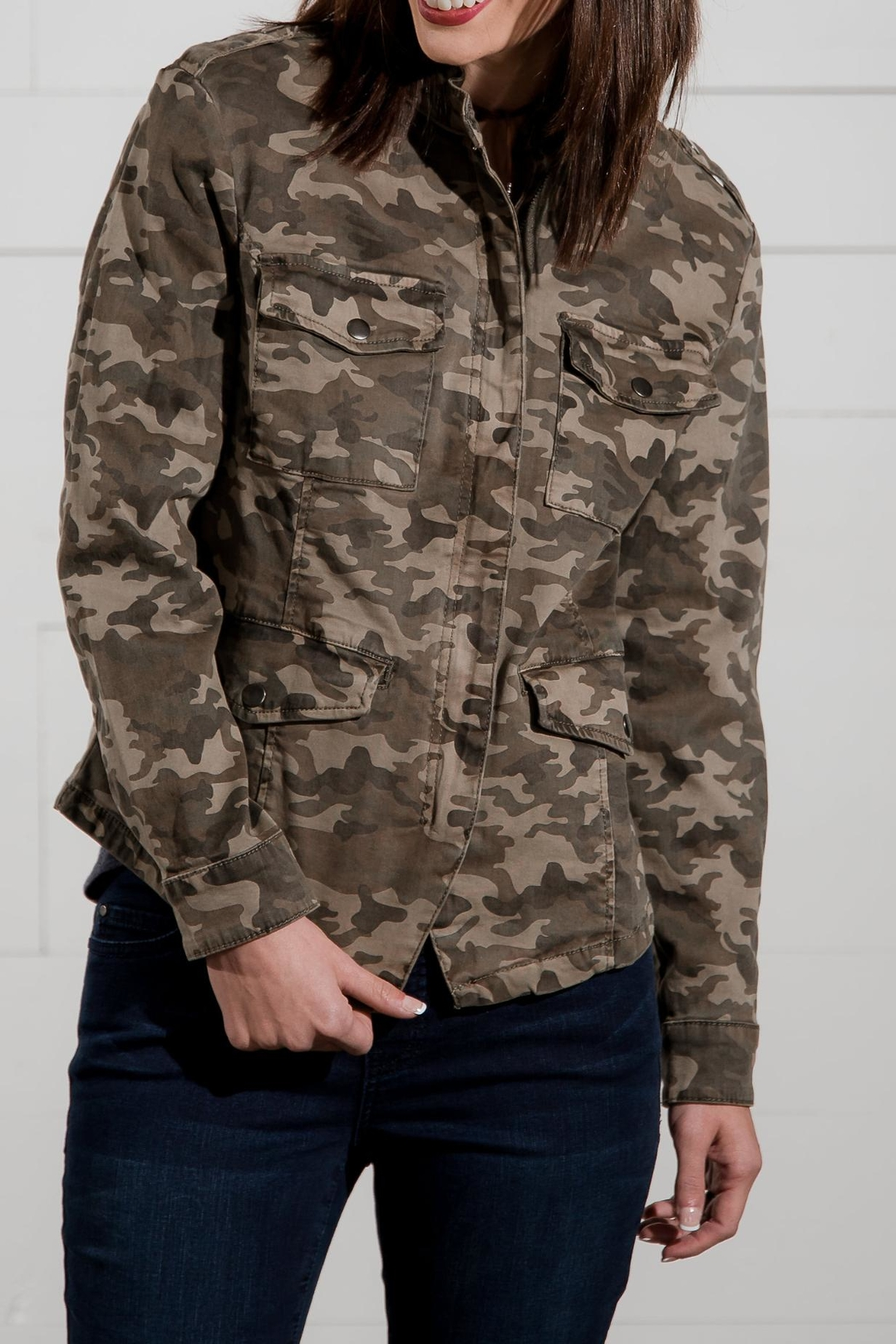 Go Fish Clothing Camo Zip Jacket - Main Image