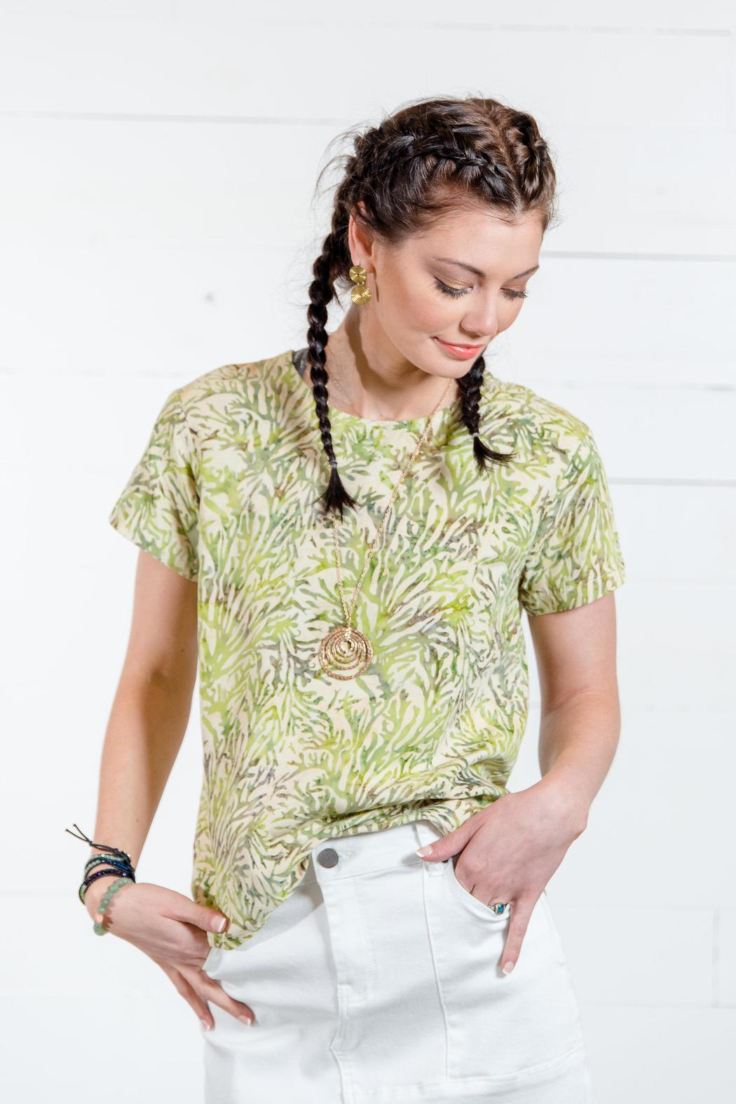 Go fish clothing coral batik blouse from florida by go for Go fish clothing
