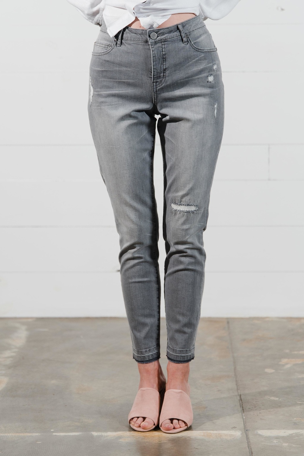 Go Fish Clothing Distressed Slim Jeans - Main Image