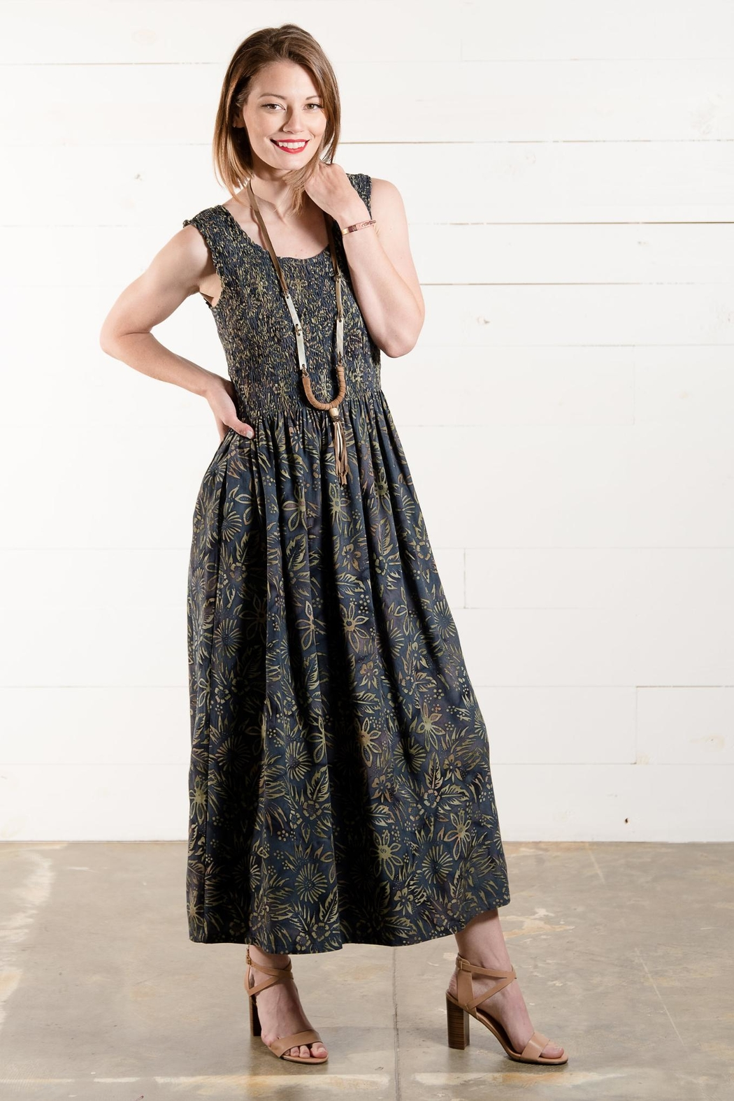 Go Fish Clothing Floral Maxi Dress - Front Full Image