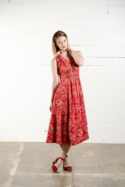 Go Fish Clothing Floral Midi Dress - Front full body