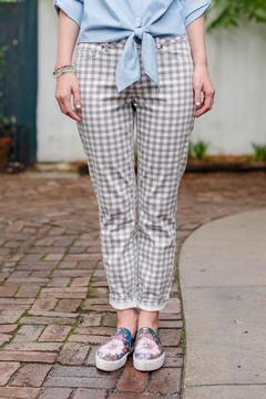 Shoptiques Product: Gingham Ankle Jean
