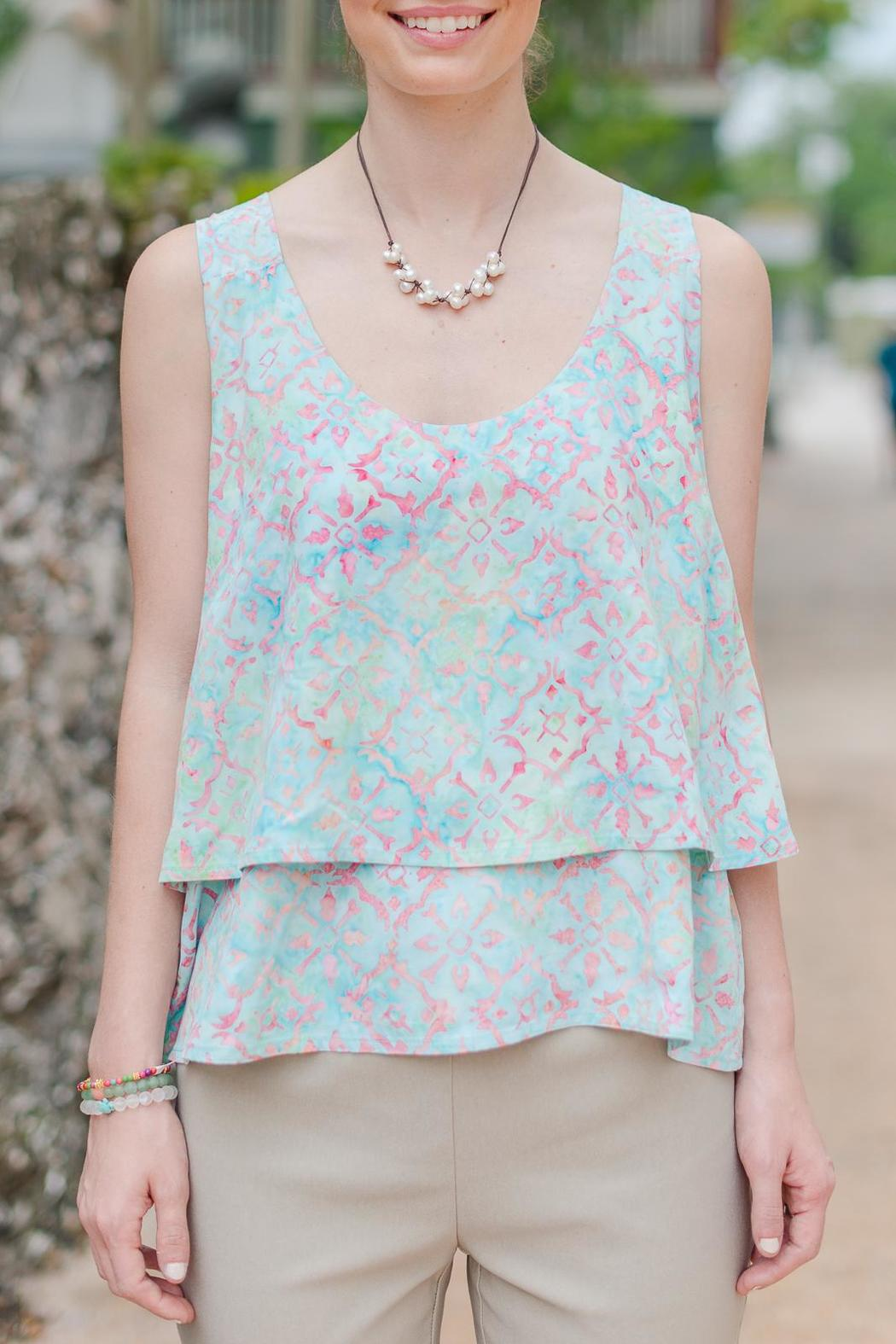 Go fish clothing layered batik tank from florida by go for Go fish clothing