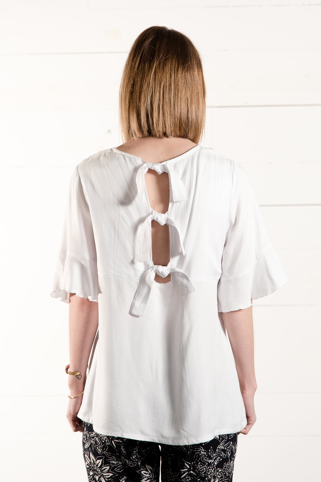 Go Fish Clothing Open Back Blouse - Side Cropped Image