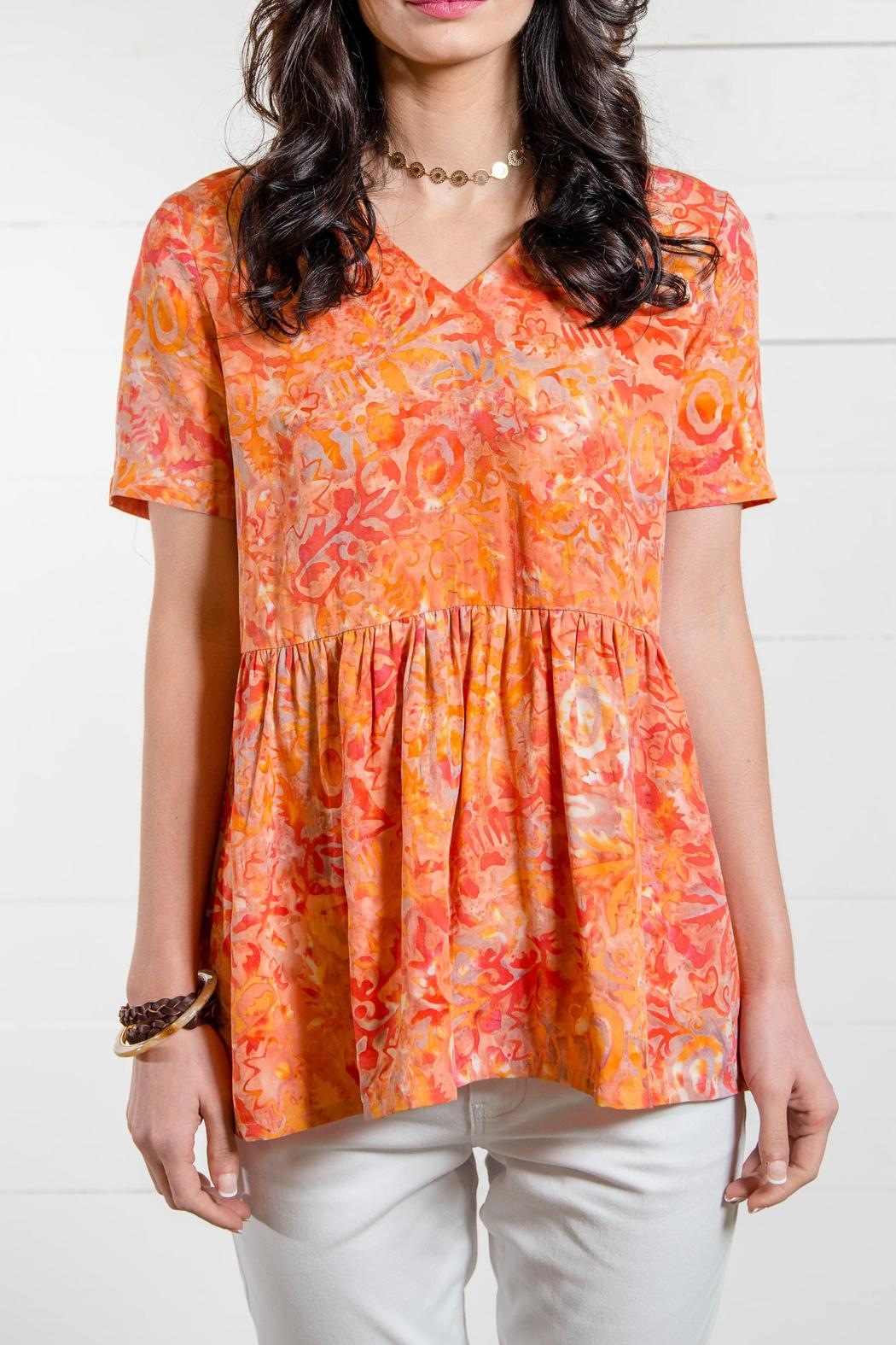 Go fish clothing peplum batik blouse from florida by go for Go fish clothing