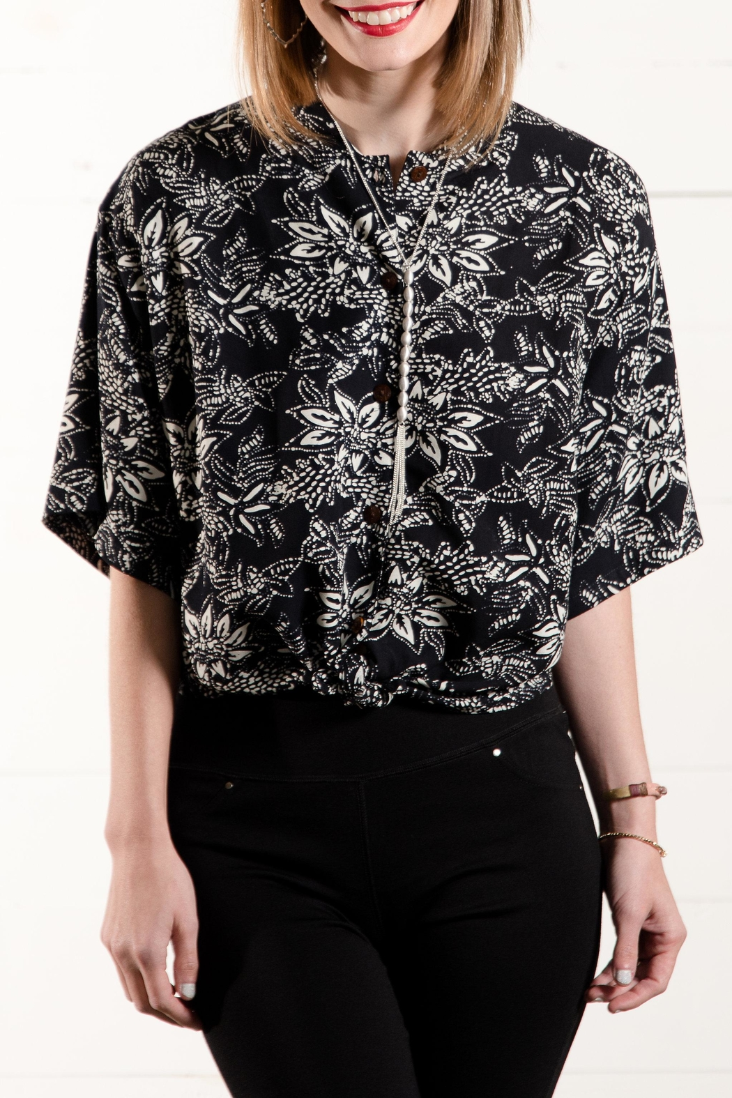 Go Fish Clothing Printed Button Down - Main Image