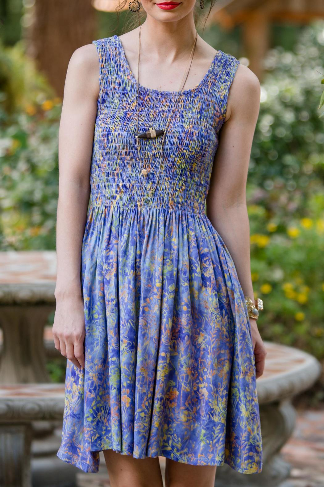 Go fish clothing purple batik dress from florida by go for Go fish clothing