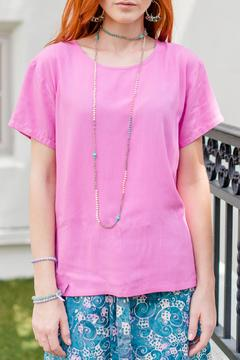 Go Fish Clothing Solid Pink Blouse - Product List Image