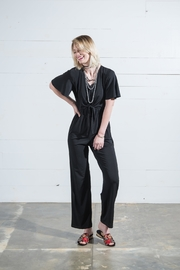 Go Fish Clothing Tie Front Jumpsuit - Front full body