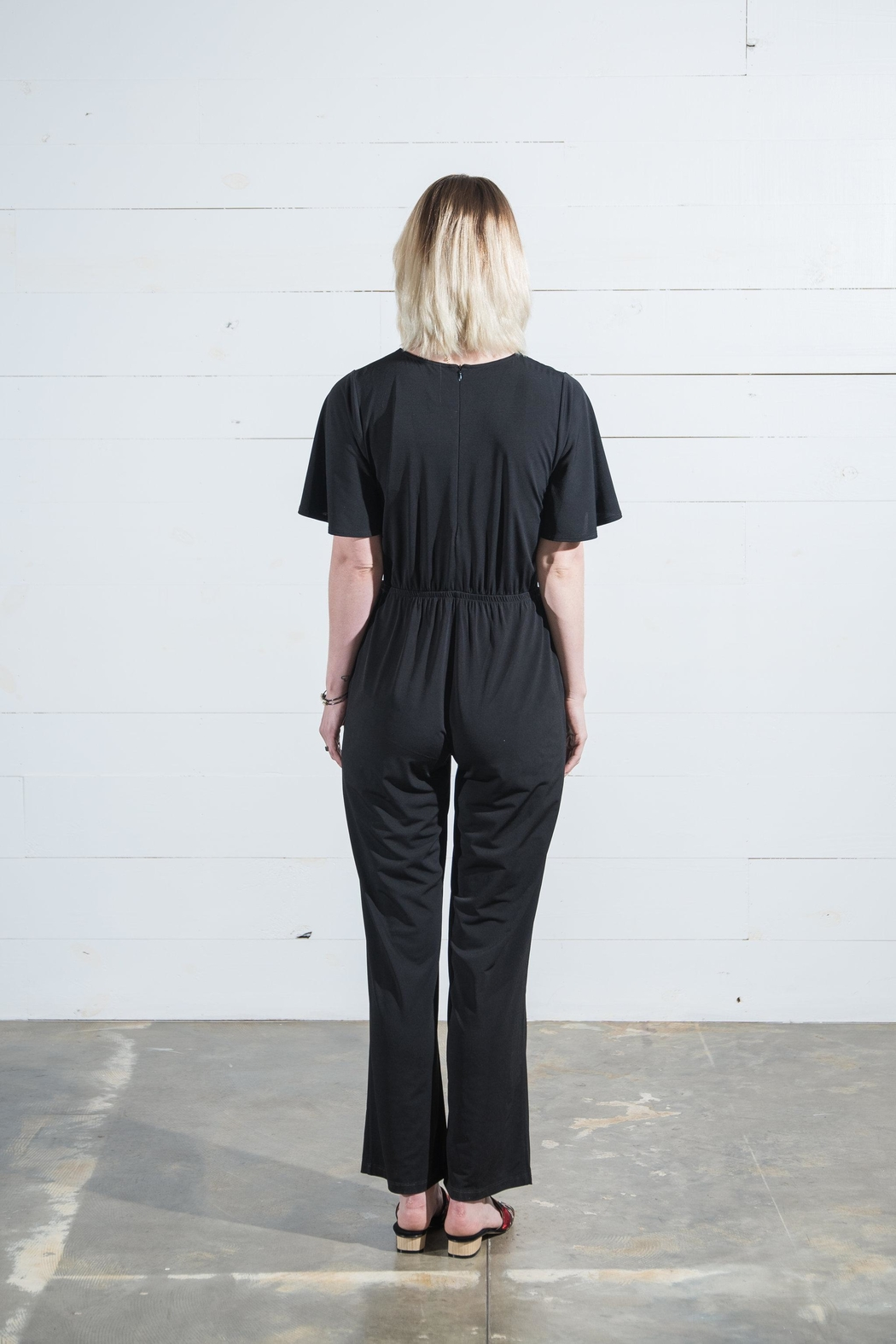 Go Fish Clothing Tie Front Jumpsuit - Side Cropped Image