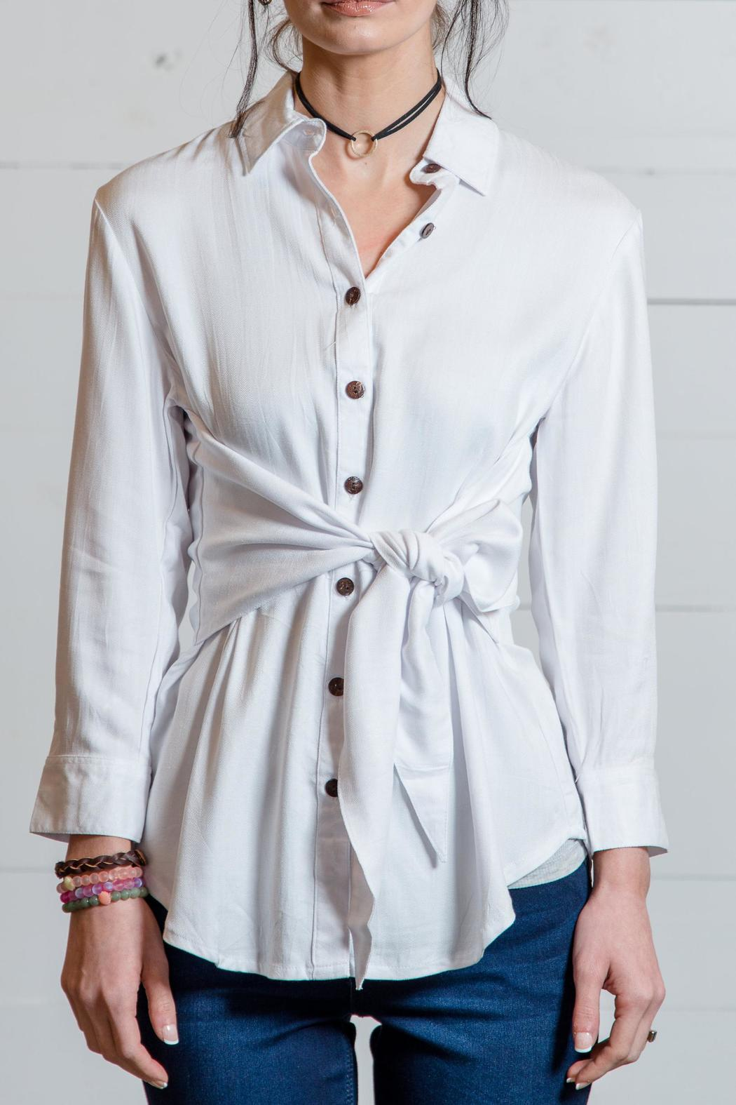 Go fish clothing tie waist blouse from florida by go fish for Go fish clothing