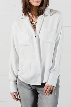 Shoptiques Product: White Button Front Blouse