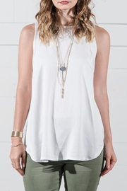 Go Fish Clothing White Tank Tunic - Front cropped