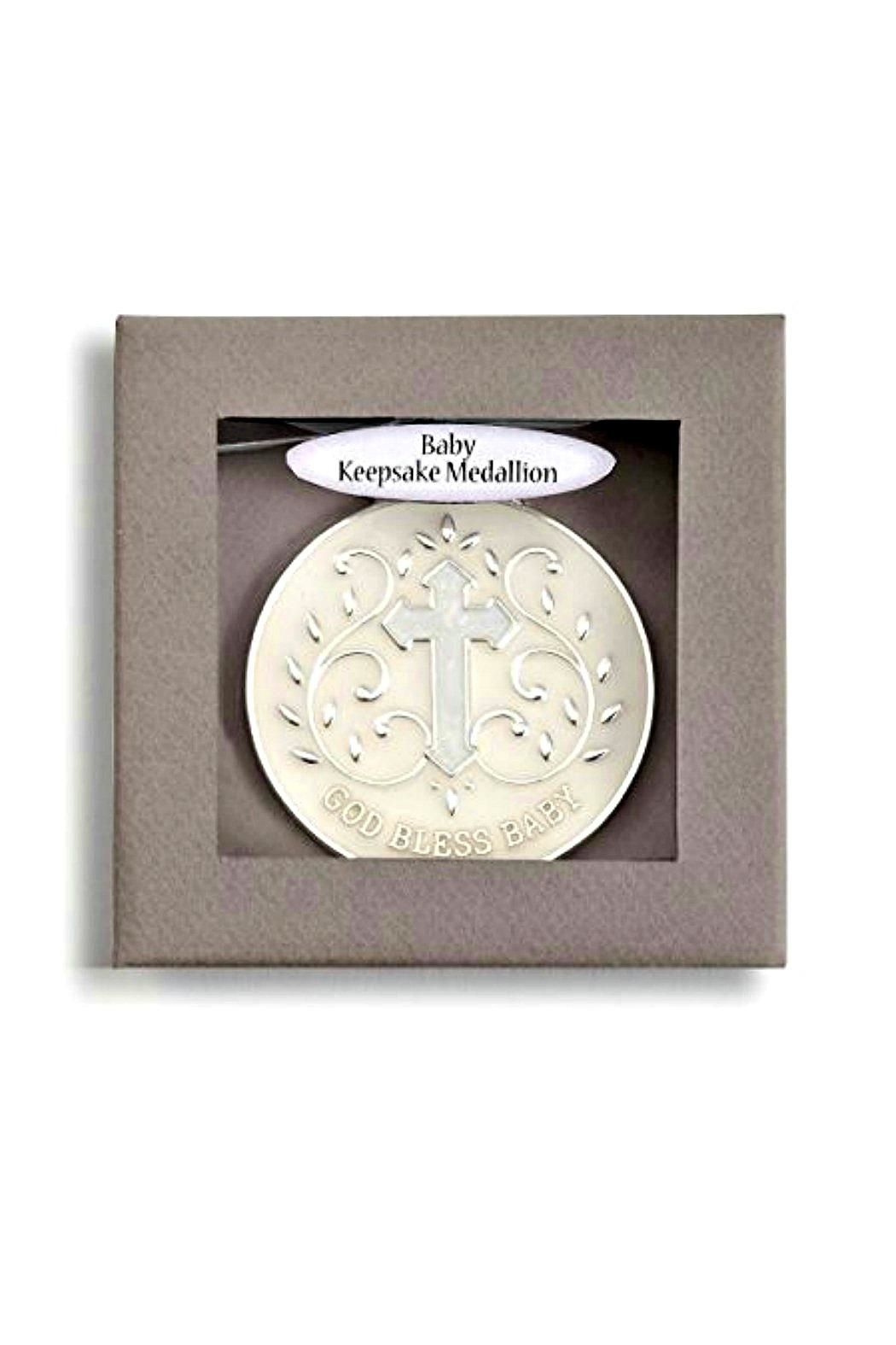 DEMDACO God-Bless-Baby-Girl-Keepsake-Medallion - Front Full Image
