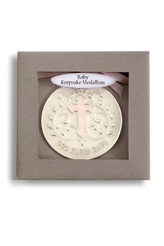DEMDACO God-Bless-Baby-Girl-Keepsake-Medallion - Alternate List Image