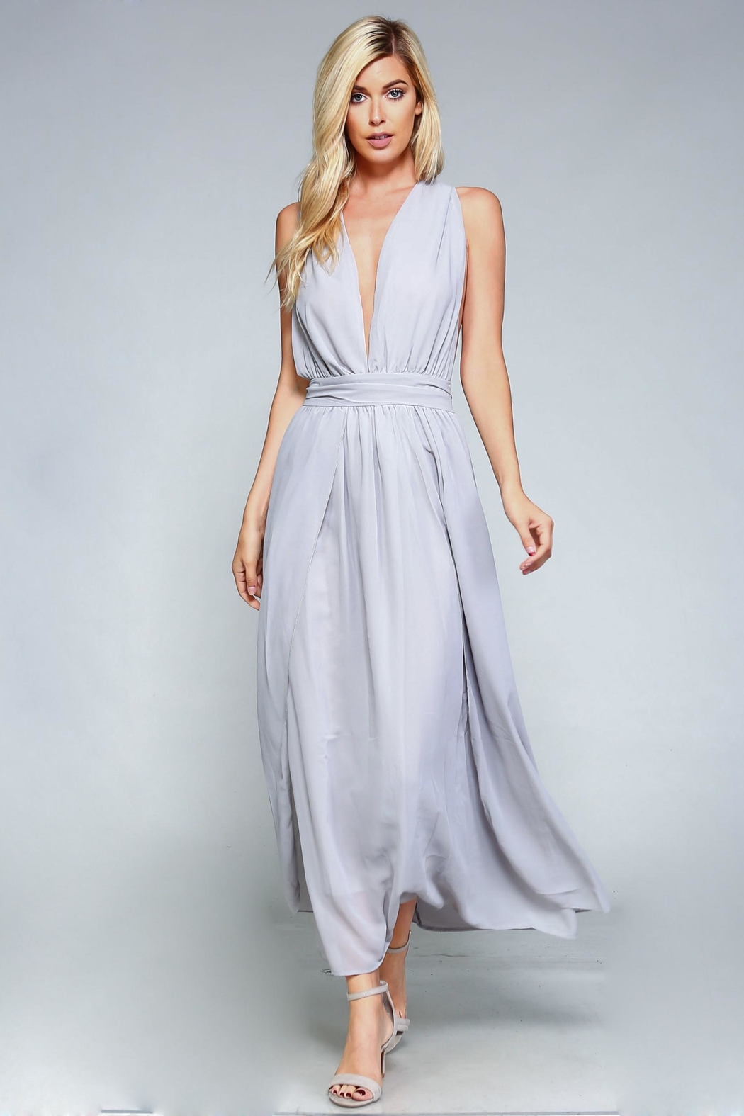 Racine Goddess Maxi Dress - Side Cropped Image