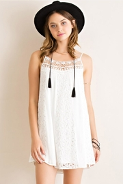 Entro Godet Lace Slip-Dress - Product Mini Image