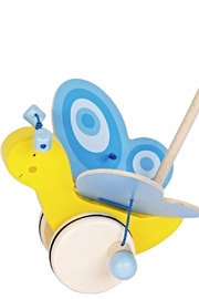 Goki Butterfly Push Toy - Front cropped