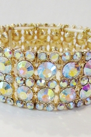 KIMBALS GOLD AB RHINESTONE STRETCH BRACELET - Front cropped