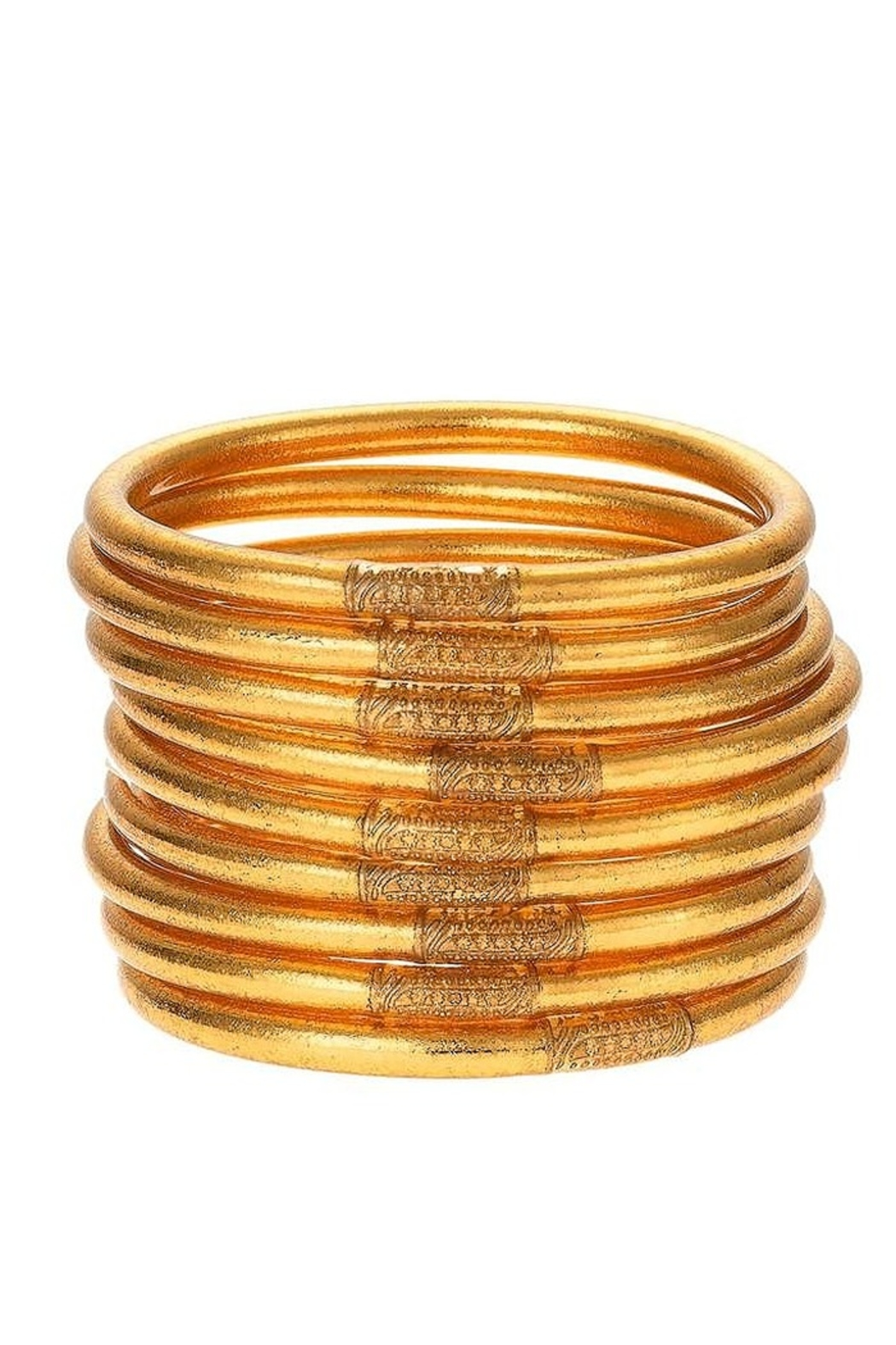 BuDhaGirl Gold All Weather Bangles - Front Full Image