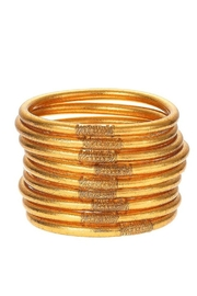 BuDhaGirl Gold All Weather Bangles - Front full body