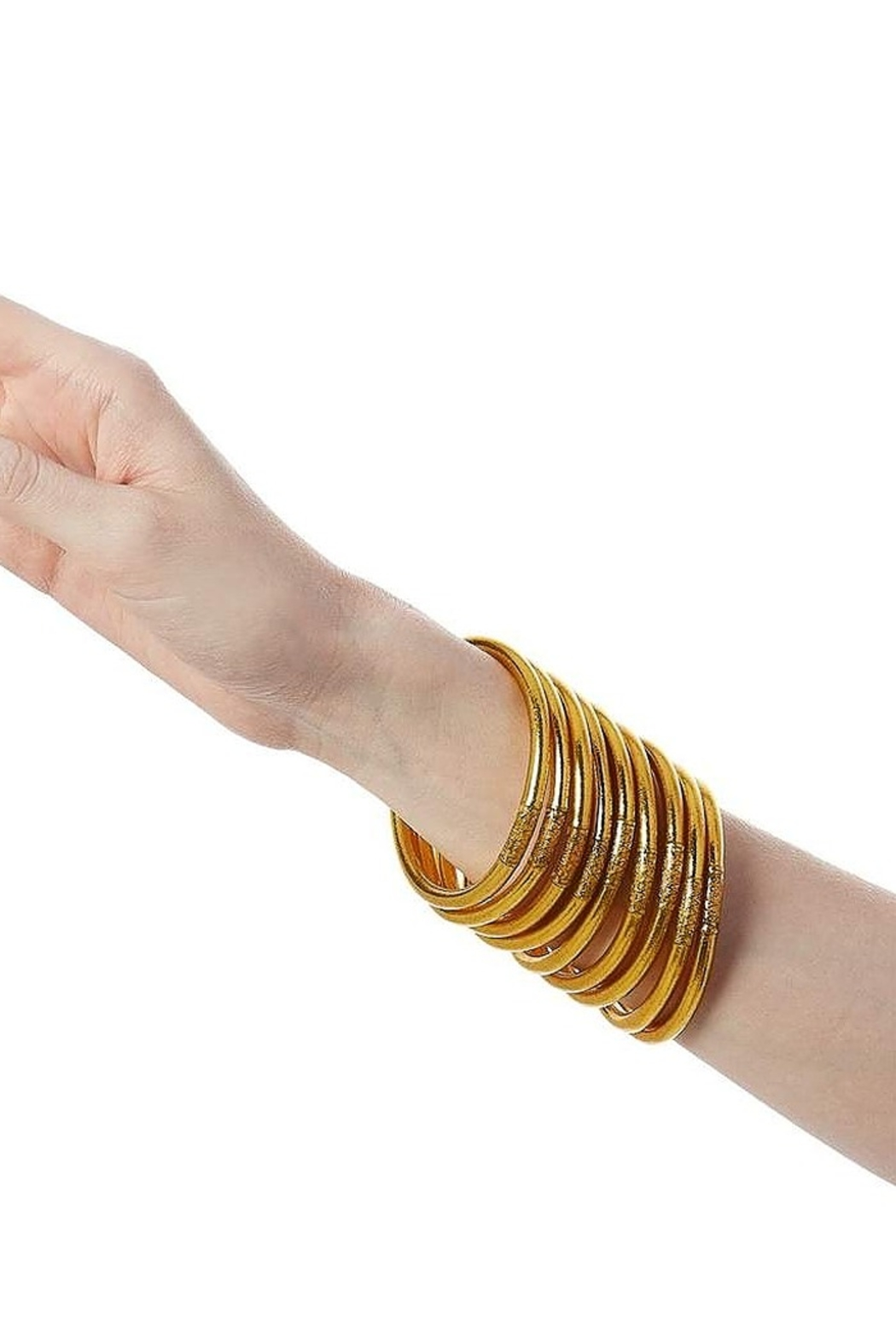 BuDhaGirl Gold All Weather Bangles - Side Cropped Image