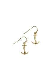 Wild Lilies Jewelry  Gold Anchor Earrings - Front cropped