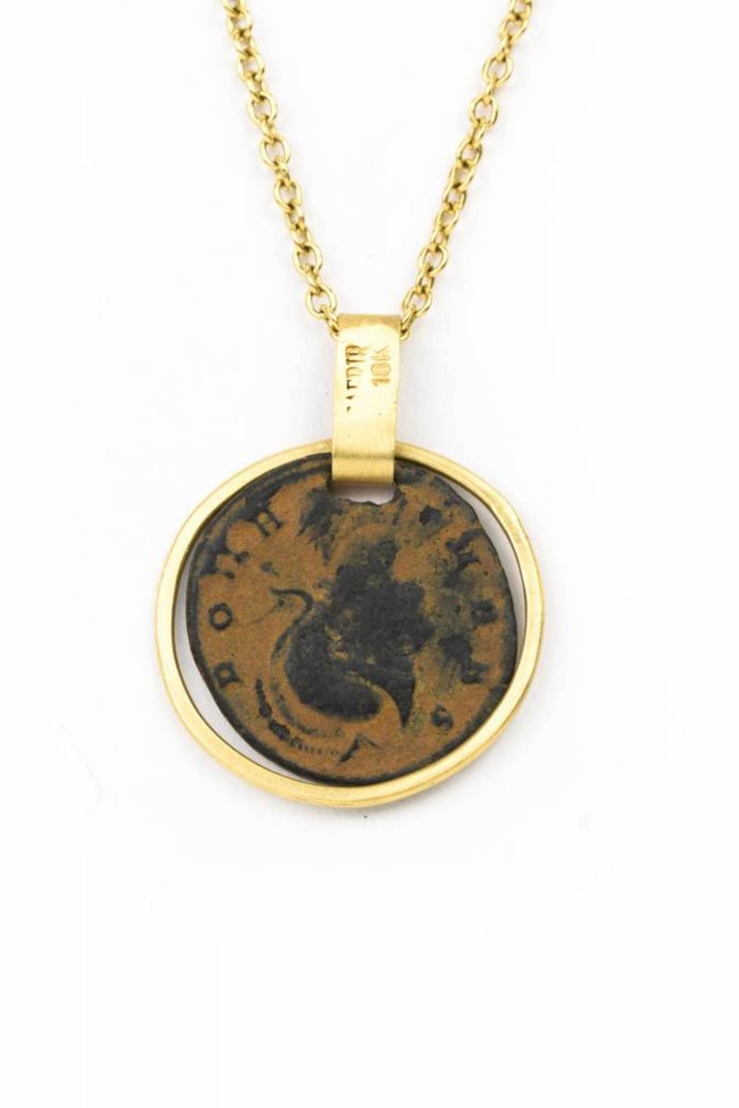 Eli Halili Gold Ancient Coin - Side Cropped Image