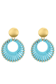Liza's Jewelry  Gold and Light Blue Earrings - Product Mini Image