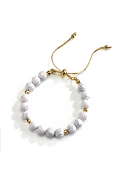 Gift Craft Gold And Marble Bracelet - Front cropped