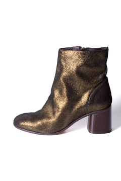 Shoptiques Product: Gold Ankle Boot