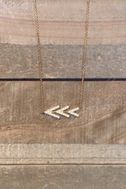 Allie & Chica Gold Arrows Necklace - Front cropped