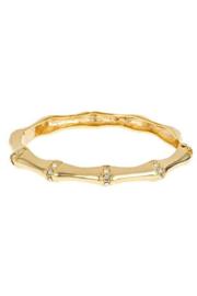 Fornash Gold Bamboo Stacking Bracelet - Front cropped