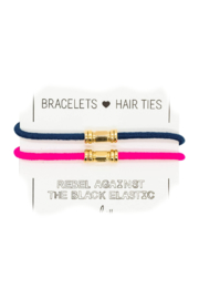 The Birds Nest GOLD BARRE HAIR TIES/BRACELETS (SET 2) - Product Mini Image