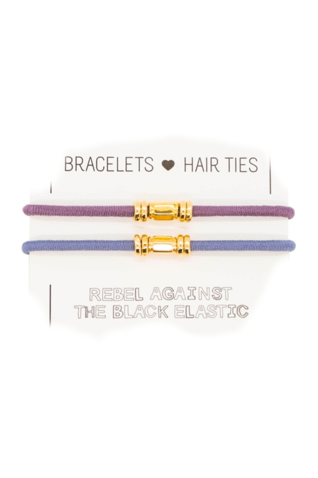 The Birds Nest GOLD BARRE HAIR TIES/BRACELETS (SET 2) - Front Cropped Image
