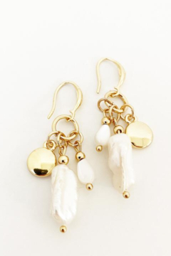 Caracol Gold bead earrings - Product List Image