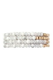 Riah Fashion Gold-Bead Natural-Stone-Bracelets - Product Mini Image
