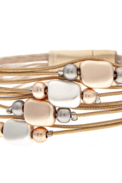 Rain Gold beaded chain magnetic bracelet - Product List Image