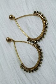 Izzie's Boutique Gold Beaded Earrings - Product Mini Image