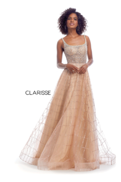 CLARISSE Gold Beaded Gown - Product List Image