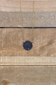 Allie & Chica Gold Black Disc Necklace - Product List Image
