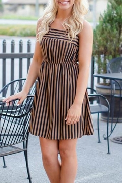 Ya Los Angeles Gold/black Striped Dress - Product List Image