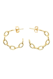 Five and Two Gold Chain Hoops - Product Mini Image