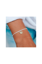Pura Vida GOLD CHARM BEE BRACELET-NATURAL STRING - Product Mini Image