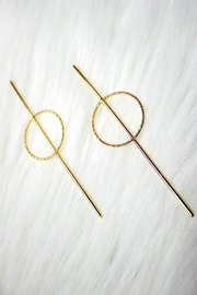Izzie's Boutique Gold Circle Earrings - Product Mini Image