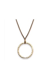 Meghan Browne Jewelry Gold-Circle Leather Necklace - Product Mini Image