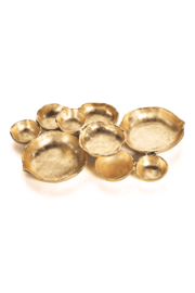 Zodax Gold Cluster Serving Bowls - Front cropped