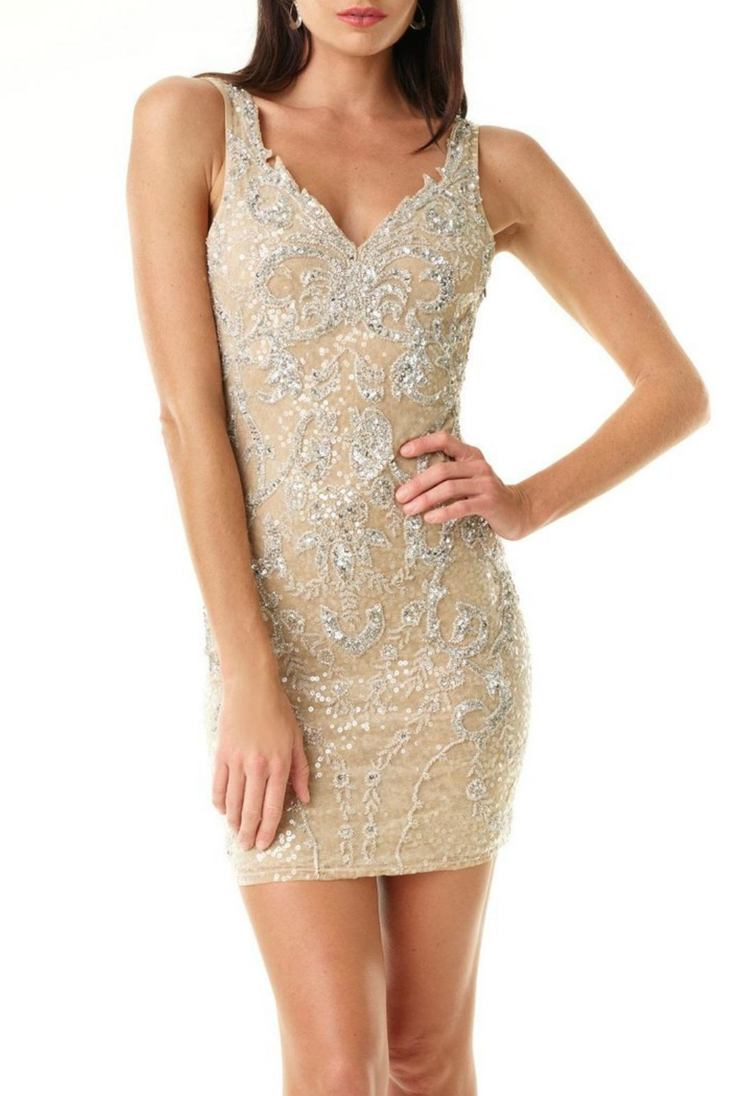 Amanda Uprichard Gold Cocktail Dress from Orange County by Jeanni ...